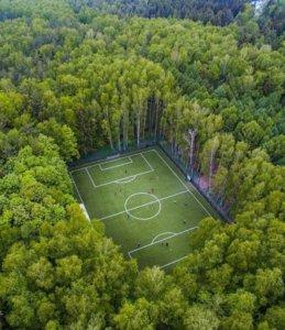 красивое футбольное поле